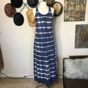 American Living Maxi Dress Boho Blue Paisely